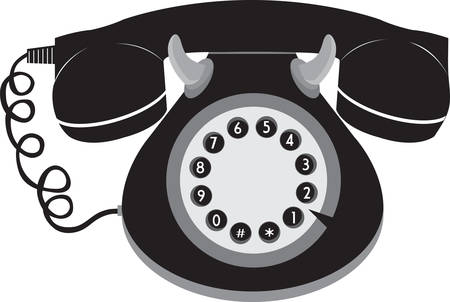 Call anyone with stylish retro telephone. Pick those design by Concord. Illusztráció