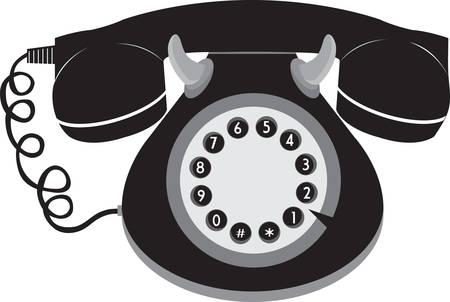 Llame a cualquier persona con teléfono retro con estilo. Escoja los diseño de Concord. Foto de archivo - 41241466