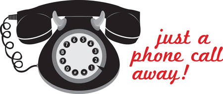 Call anyone with stylish retro telephone. Pick those design by Concord. Иллюстрация