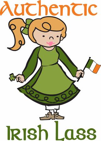 verzamelen: Collect the wide range of Irish lass designs by Concord Stock Illustratie