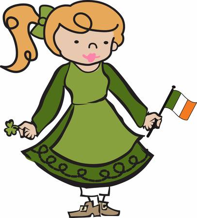 to collect: Collect the wide range of Irish lass designs by Concord Illustration