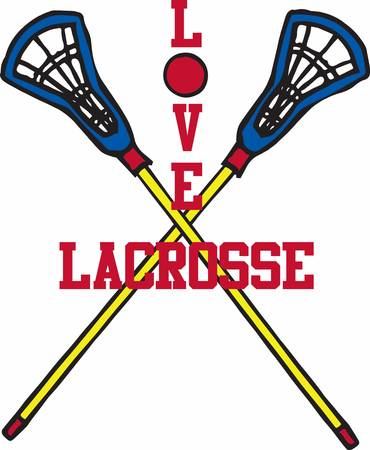crosse: Lacrosse is a great game requiring lots of practice. This image will make a perfect gift on the equipment bag.