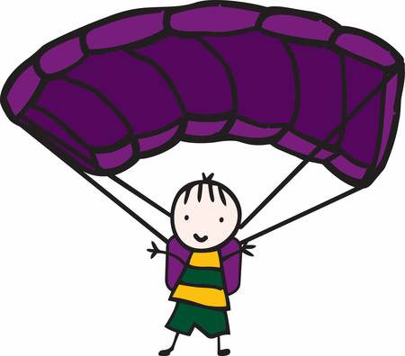 sky dive: Minds are like parachutes  they only function when open Illustration