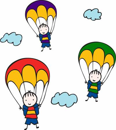 Minds are like parachutes  they only function when open Illustration