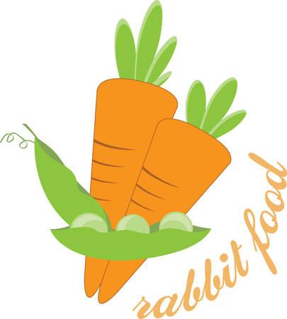 De gemakkelijkste dieet is dat je weet eet groenten te eten vers voedsel. Stock Illustratie