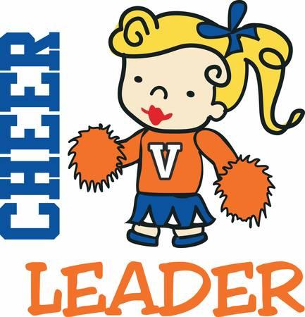 cheer leader: La mejor manera de animar a ti mismo es intentar alegrar a alguien m�s arriba Vectores