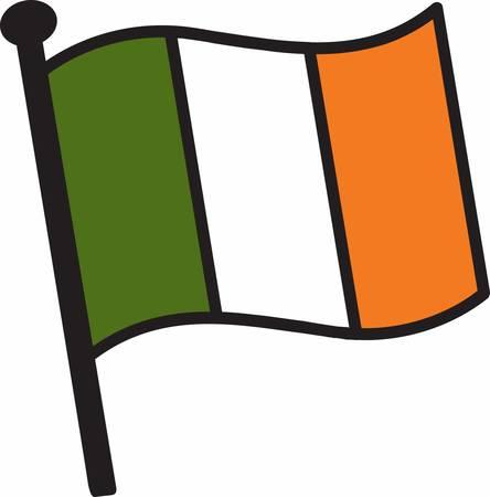 bandera de irlanda: Recoge los coloridos dise�os de la bandera de Irlanda por Concord