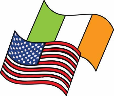 irish flag: Pick the wide range of American Irish Flag Designs by Concord