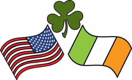 erin: Pick the wide range of American Irish Flag Designs by Concord