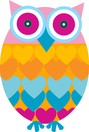 mournful: The wailing owl Screams solitary to the mournful moon. Illustration