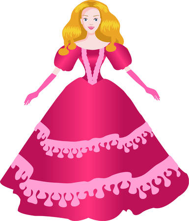 knows: Deep in every heart slumbers a dream and the couturier knows it: every woman is a princess. Illustration