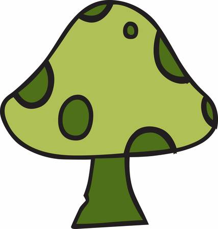 fungi: Leprechaun sits under giant mushroom on tiny desert island. Have this designs by Concord