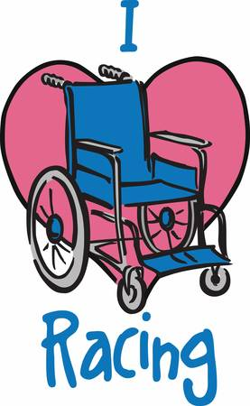 This wheelchair design is perfect to add to scrubs.  Show everyone you care