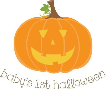 beggar's: Cute smiling jack o lantern for Halloween decorating.