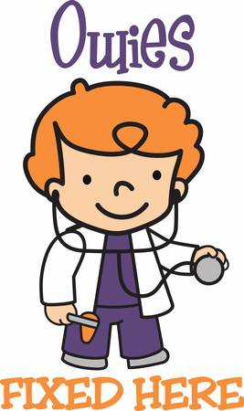 stethoscope boy: This wheelchair design is perfect to add to scrubs.  Show everyone you care