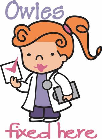 girl stethoscope: Girls study hard to prove themselves. Pick those design by Concord. Illustration