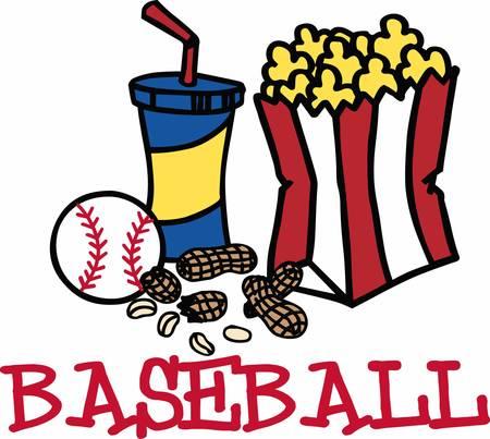 Refresco Palomitas de maíz y maní aperitivos béisbol. Foto de archivo - 41242584