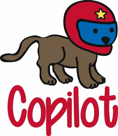 whelps: Cute little dog with red racing helmet with a yellow star on it.