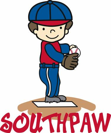 Baseball pitcher ready at the mound. Perfect for the dad who has an athletic son.  イラスト・ベクター素材