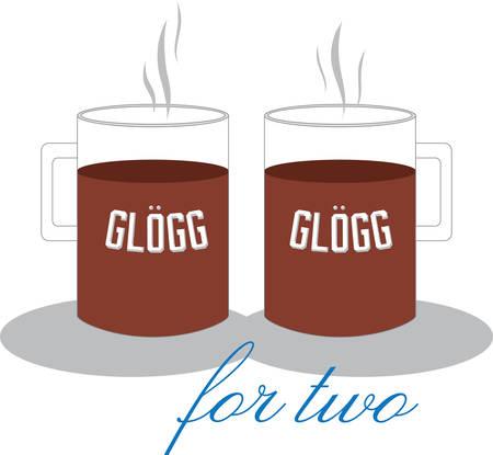 これで休日プロジェクトを暖かく熱い glogg デザイン。