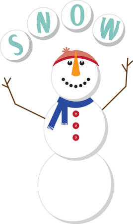 This snowman will be a cool part of your winter project.