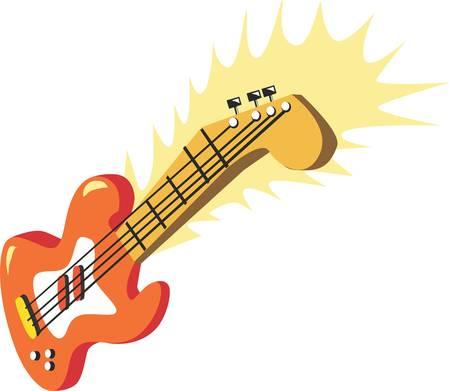 クラシック ギターは通常のアコースティック ギターやエレク トリック ギターとは異なりそれを動的です。  イラスト・ベクター素材