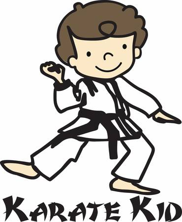 When you look at life think in terms of karate. But remember that karate is not only karate  it is life. Ilustração