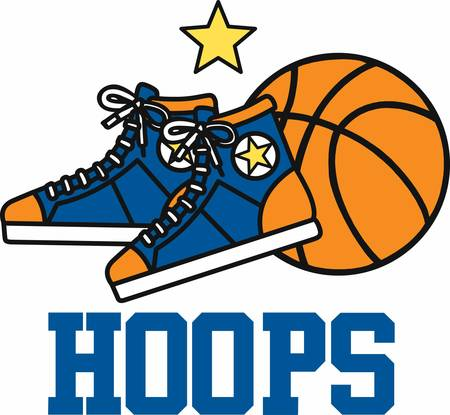 nba: Basketball jersey hightops and ball.