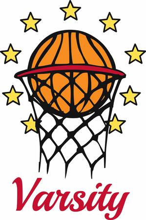 Basketball players will love this ball design. Illustration