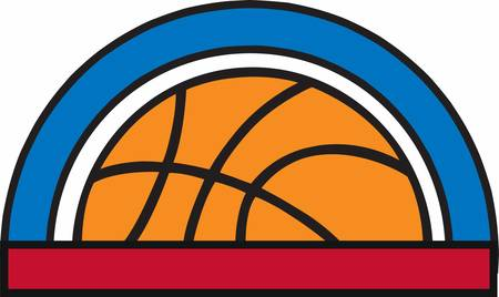 Basketball players will love this ball design. Ilustração