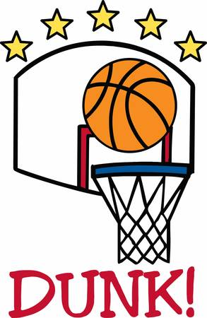 Basketball players will love this ball design. Ilustrace