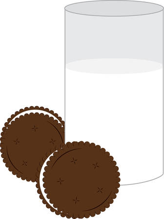 Milk and cookies will be a great part of your next project. Stock Vector - 41243079