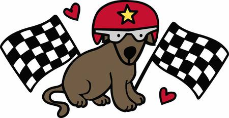 nascar: Race fans will love this sporting dog.