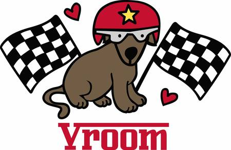 motorsport: Race fans will love this sporting dog.