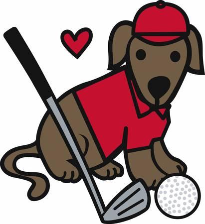 Golfers will love this sporting dog. Ilustração