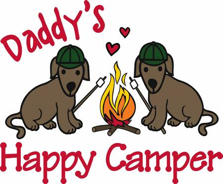 Campers will love thesa happy dogs.
