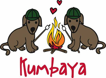fire pit: Campers will love thesa happy dogs.