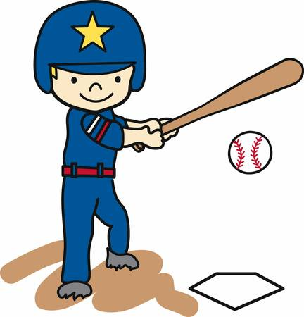 hitter: Baseball batting boy swinging at a ball.