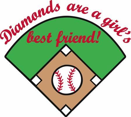 baseball diamond: Crossed bats with a yellow stars surrounding a baseball diamond logo.
