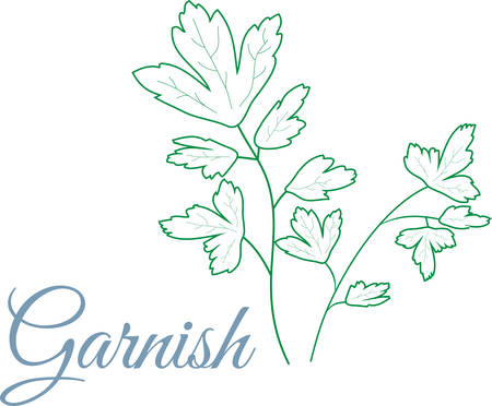 Use this design on a kitchen linen or napkin.
