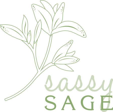 sassy: Use this design on a kitchen linen or napkin.
