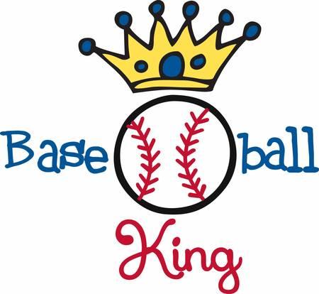 nobility: Blue circle crown over a Baseball logo.