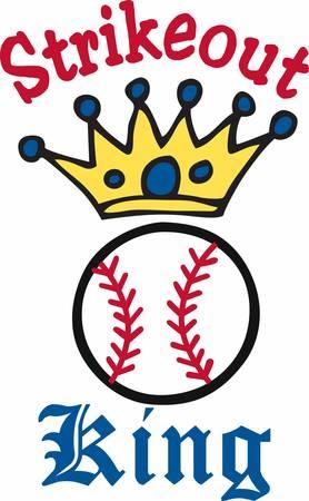 야구 로고 위에 파란색 원 왕관.