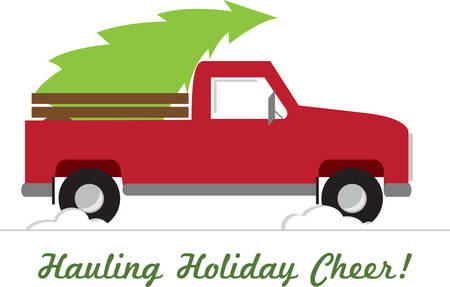 bah: Remember bringing the tree home with this Christmas pickup truck design.