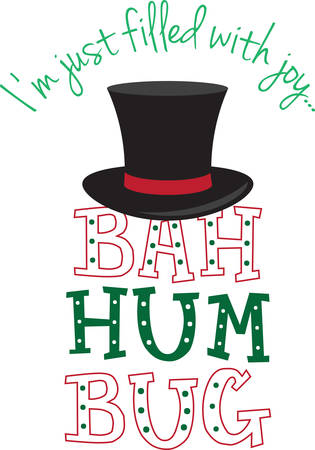 bah: Even a Scrooge can be festive with this design.