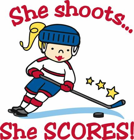 Hockey lovers will like a fun player on the ice.