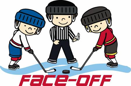umpire: Hockey lovers will like a fun refree on the ice. Illustration