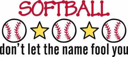 Baseballs en sterren in een rij grens. Stock Illustratie