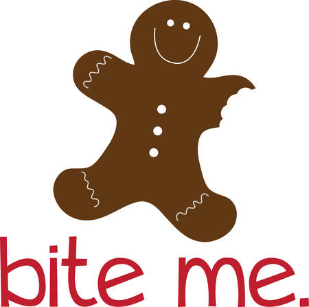 A gingerbread man is a biscuit or cookie made of gingerbread usually in the shape of a stylized human pick those designs by concord Illusztráció