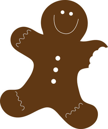 A gingerbread man is a biscuit or cookie made of gingerbread usually in the shape of a stylized human pick those designs by concord Illustration